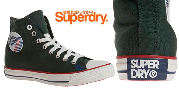 superdry retro sport high deep grun zapatillas baratas