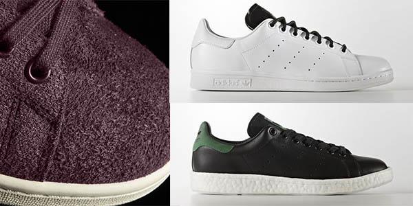 Adidas Stan Smith blanco o negro en cuero baratas