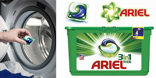 ariel 3 en 1 PODS cápsulas pack 3 cajas 38 lavados barato