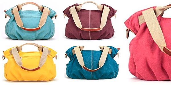 cc886ad4a24 Hablamos de los bolsos de tela Eshow, unos bolsos de gran capacidad  fabricados en lona de diferentes colores, que en estos momentos te puedes  llevar a ...