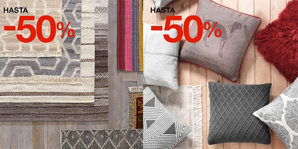 complementos textiles hogar rebajados El Corte Inglés