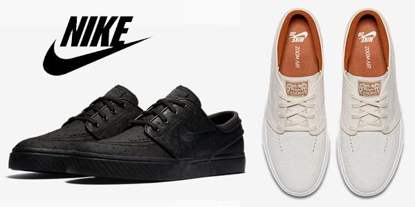 half off 61a15 dcfb7 Hablamos de las Nike SB Zoom Stefan Janoski Leather, un modelo de piel  disponible en 2 colores, que en estos momentos te puedes llevar por sólo  47,59€, ...