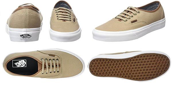 zapatillas vans color beige