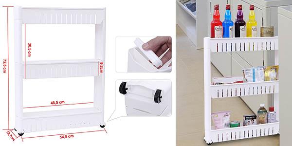 Mueble almacenaje cocina almacenaje de cocina de pared for Mueble estrecho cocina