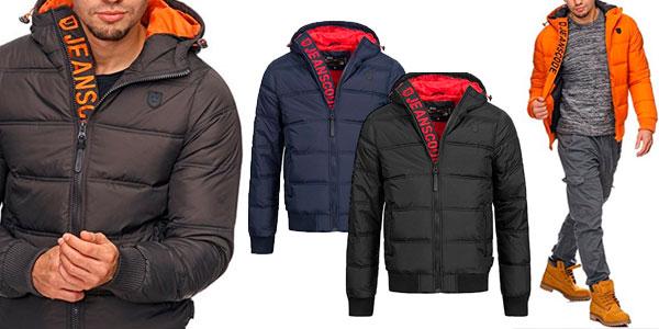 ff48251c89e Chaquetas acolchadas con capucha INDICODE para hombre en 4 colores ...