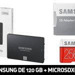 Pack de Disco SSD Samsung de 120 GB + microSDXC Plus de 256 GB