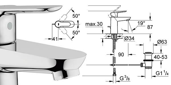 Grohe Smart Edge monomando lavabo relación calidad-precio
