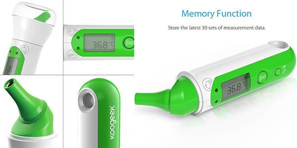 termómetro Koogeek precisión digital App móvil fácil rápido utilizar