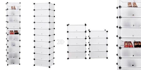 Genial estanter a modular songmics de 10 estantes para for Zapatero barato madrid