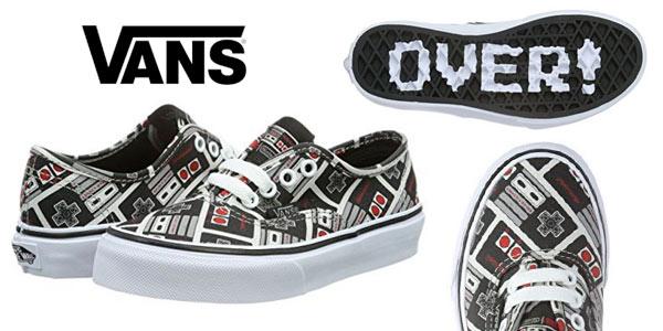 83f4bc695 Chollazo geniales zapatillas VANS infantiles con diseño retro de ...