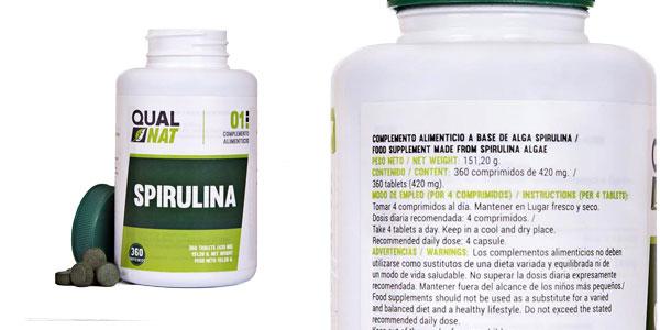 Comprimidos alga Espirulina Qualnat baratos en Amazon