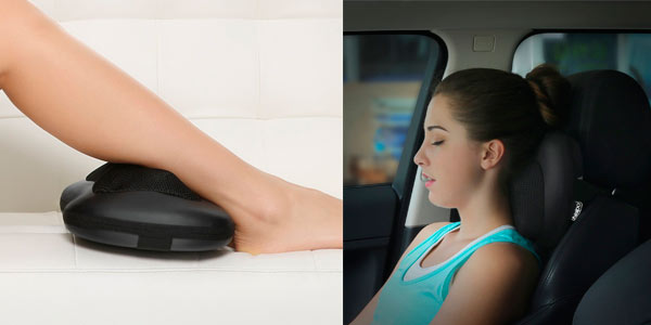 Almohada de masaje Naipo con nodos Shiatsu 3D rebajada en Amazon