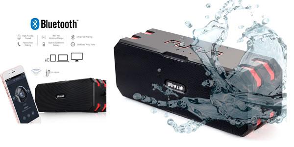 Altavoz Bluetooth impermeable Wirezoll rebajado en Oferta Flash de Amazon