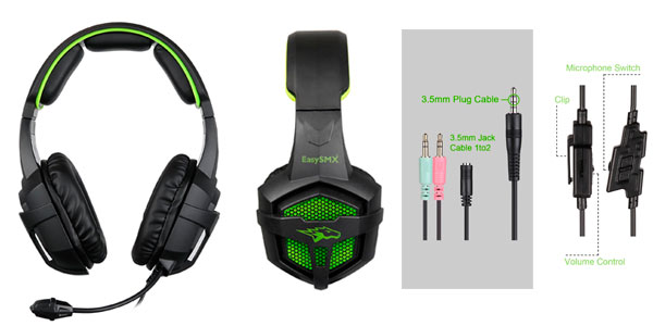 Auriculares gaming para PS4, PC, Android e iOS EasySMX G1200 rebajados en Amazon