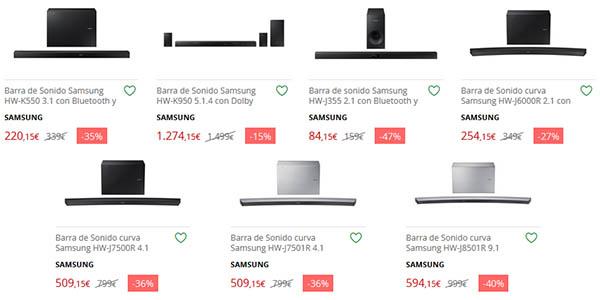 Barras de sonido Samsung baratas
