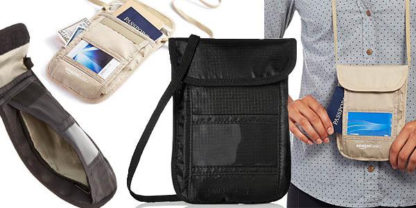 bolso con compartimentos para guardar documentos y pasaporte en tus viajes