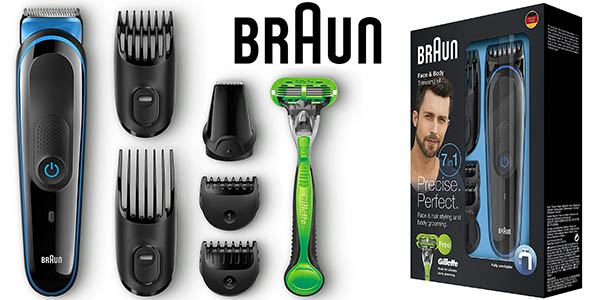 Chollo Set de afeitado corporal y facial Braun MGK3040 7 ...