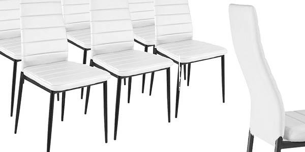 Chollo brutal pack de 6 sillas de comedor modernas por for Sillas comedor comodas