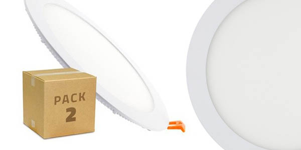 downlight circular superslim LED 18W pack de 2 unidades chollo