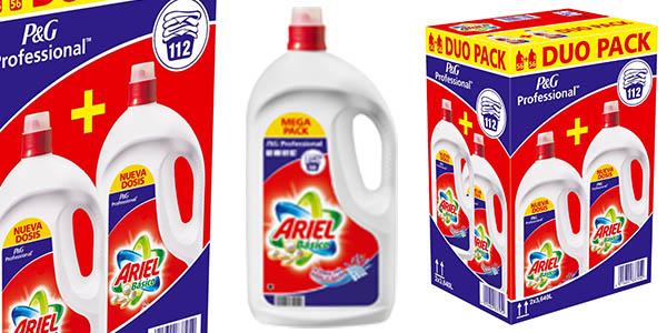 duo pack ariel básico líquido 112 lavados barato