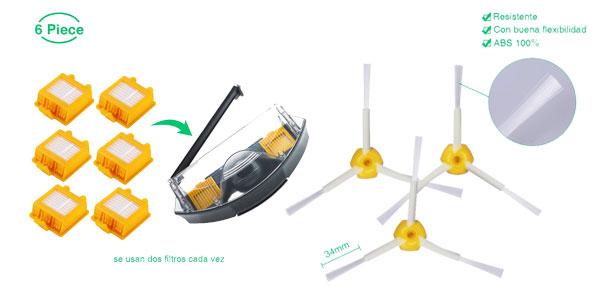 Pack 12 piezas de recambio para Roomba serie 700 barato en Amazon