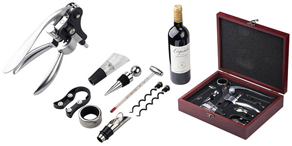 Kit abrebotellas accesorios vino oferta flash amazon