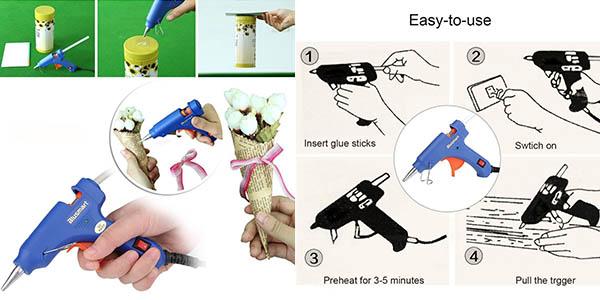 minipistola eléctrica pegamento fácil utilizar
