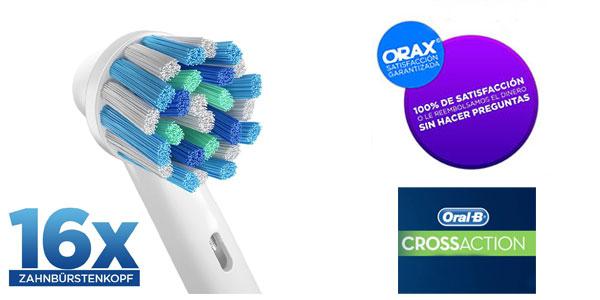 Chollo 16 cabezales compatibles Oral-B Cross Action por sólo 11 8350fecf88c7