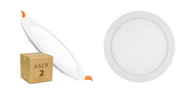 pack 2 downlight LED SMD 2835 circular 18W barato