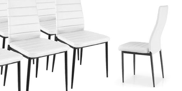 Chollo Pack x6 sillas de comedor modernas por sólo 89,95€ con envío ...