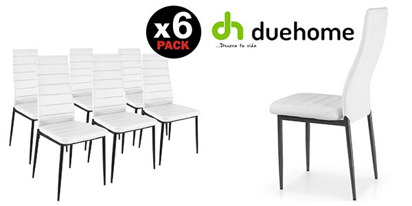 Chollo brutal pack de 6 sillas de comedor modernas por for Sillas comedor pack 6