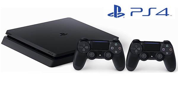 PS4 Slim + 2 mandos DualShock 4 V2