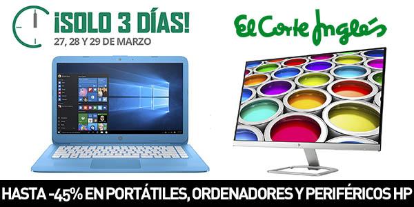 Descuentos en portátiles, ordenadores y periféricos HP