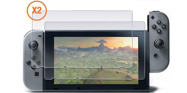 Protector de pantalla de cristal templado para Nintendo Switch