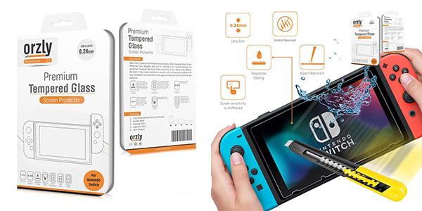 Protector de cristal templado 9H para Nintendo Switch