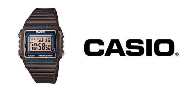 8bd21d99ef17 Reloj digital clásico Casio W-215H-8AVEF para hombre en color marrón ...