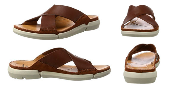 Sandalias Clarks Trisand Cross para hombre en color marrón rebajadas en Amazon