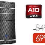 Ordenador gaming Medion M11 (AMD A10-8750, GTX 1060 3GB, 1TB, 8GB)
