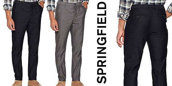 704b5a9bd163 Chollazo Pantalones Springfield Patterned tipo chinos para hombre ...