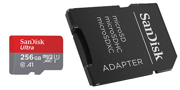 Tarjeta microSDXC SanDisk Ultra 256 GB barata