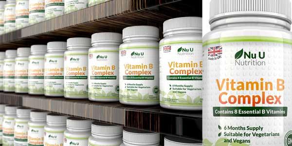 Bote Complejo Vitamina B Nu U Nutrition barato en Amazon