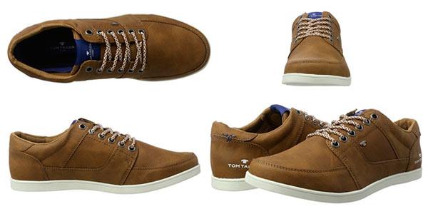 Zapatillas para hombre Tom Tailor cuero marrón baratas en Amazon