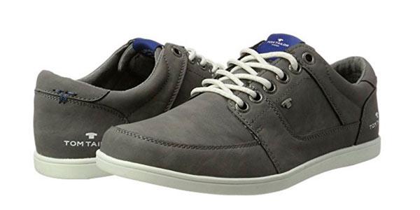 Zapatillas para hombre Tom Tailor tipo zapato color gris baratas en Amazon