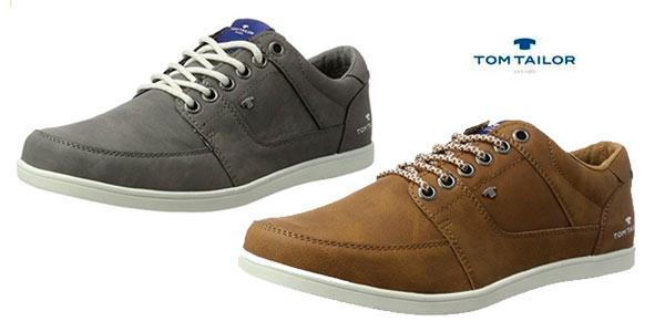 Zapatos de sport Tom Tailor para hombre en marrón o gris chollo