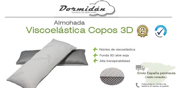 Almohada viscoelástica de copos con funda 3D transpirable