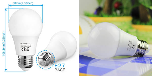 Chollo pack 6 bombillas shine hai led e27 de 8w equivalentes a 60w por s lo 18 99 - Bombillas para estudiar ...