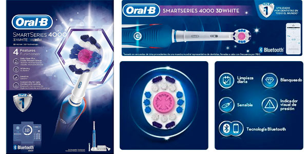 Cepillo de dientes Oral-B Smart Series Bluetooth 3D White con descuento en Amazon