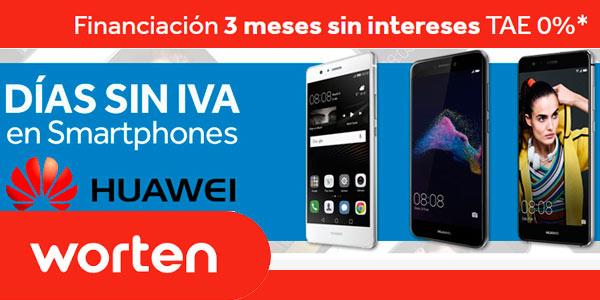 Días sin IVA en Worten con ofertas en smartphones Huawei