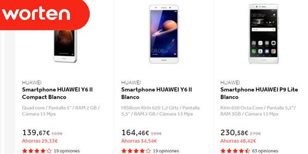 Días sin IVA en smartphones Huawei en Worten
