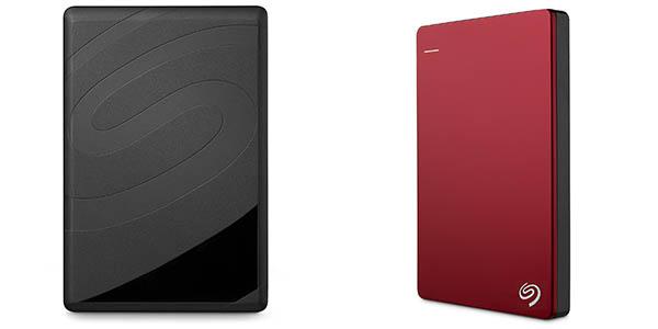 Seagate Backup Plus Slim de 2TB en color rojo
